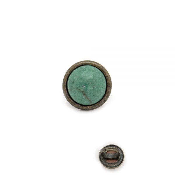 Anel em metal com pedra redonda (3)