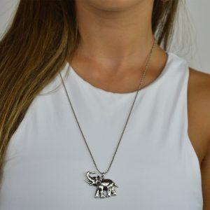 Colar amuleto elefante