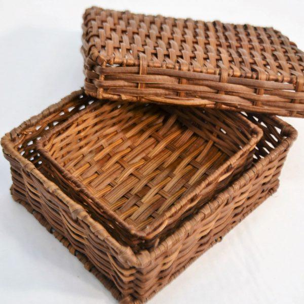 Conjunto de caixa e cesto em tilob (2)