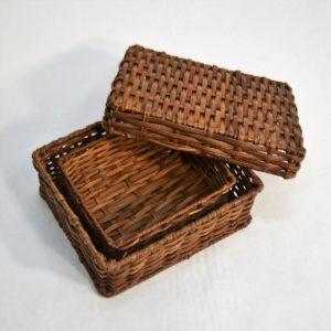Conjunto de caixa e cesto em tilob