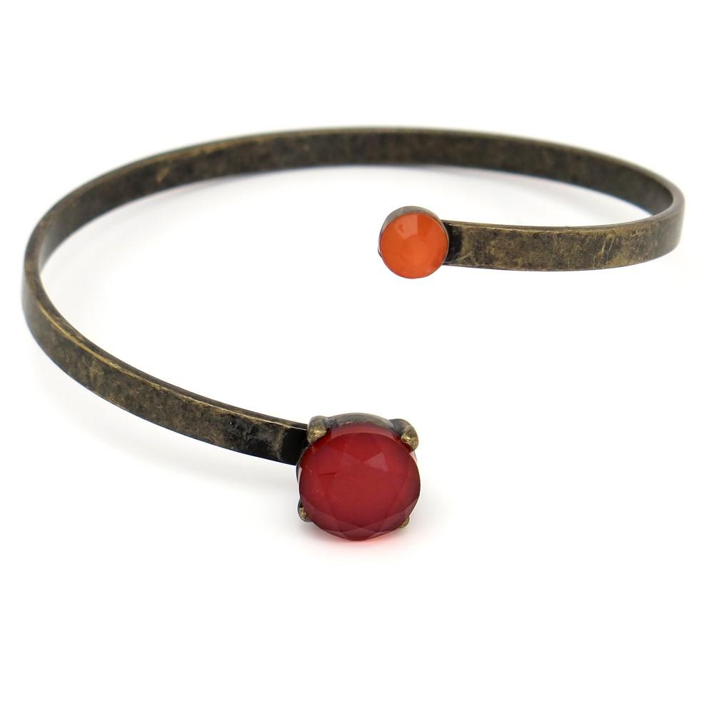 Pulseira pedras coloridas e aro metálico (1)