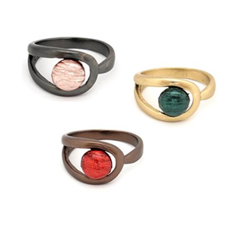 Anel de metal colorido (1)