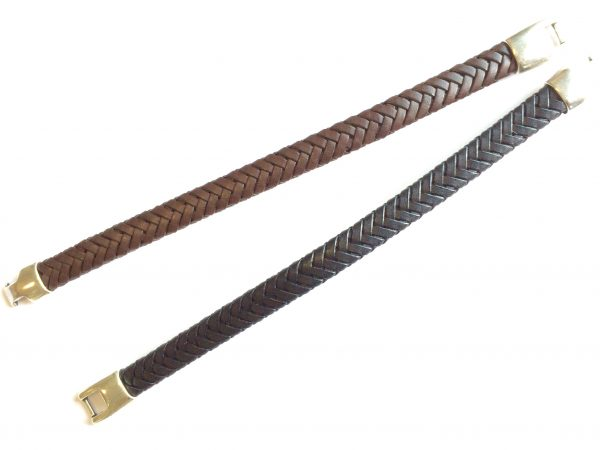 Pulseira em couro trançado Cherokee (1)