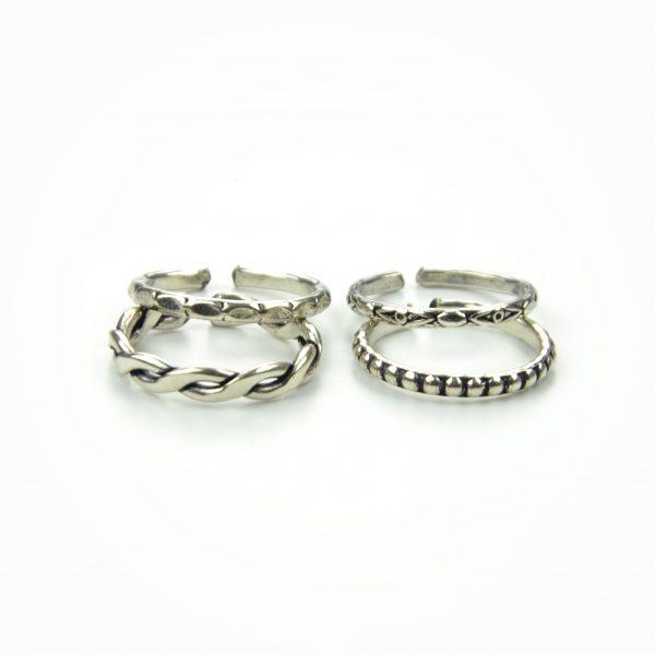 Set de anéis metálicos