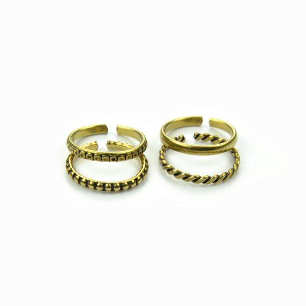 Set de anéis metalizados