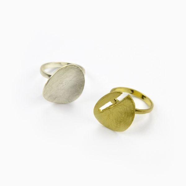 Anel duplo dourado e prateado (3)