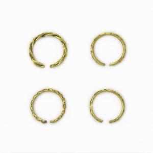 Set de anéis dourados