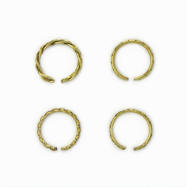Set de anéis dourados (1)