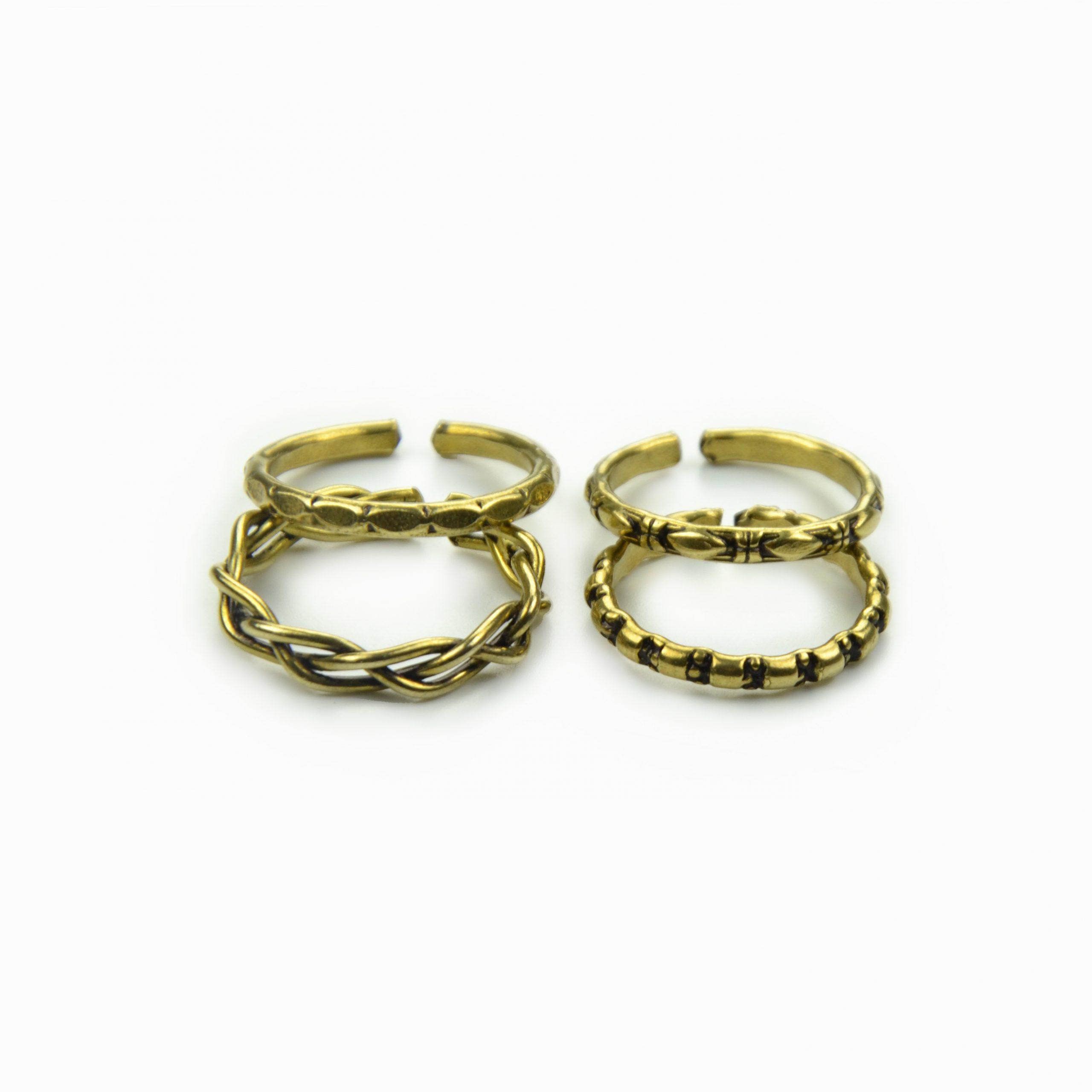 Set de anéis dourados (2)