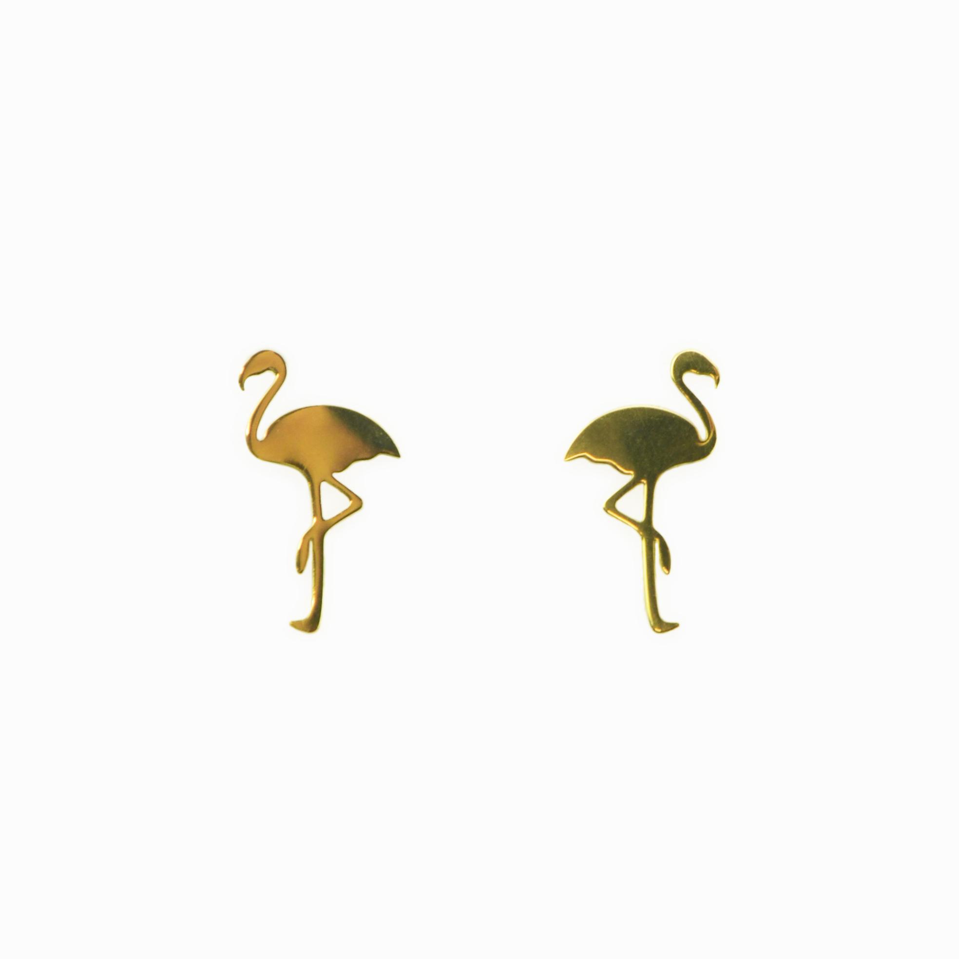 Brincos Flamingo aço