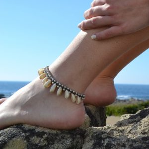 Pulseira de pé beijinhos do mar