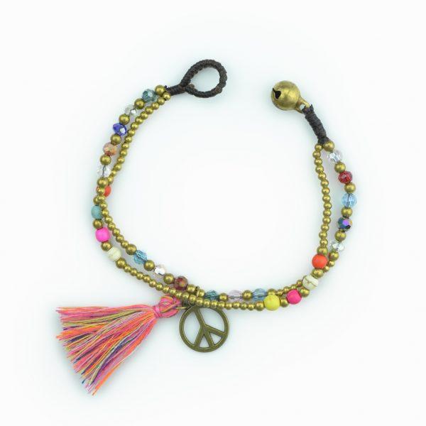 """Pulseira Boho Style """"símbolo da paz"""""""