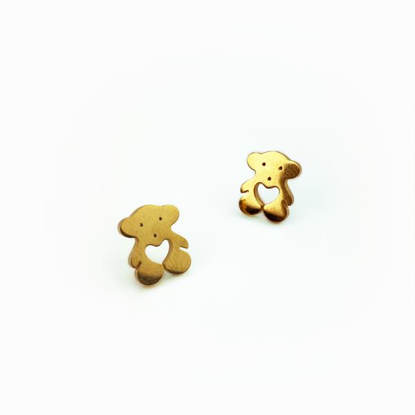 Conjunto em aço ursinho dourado (2)