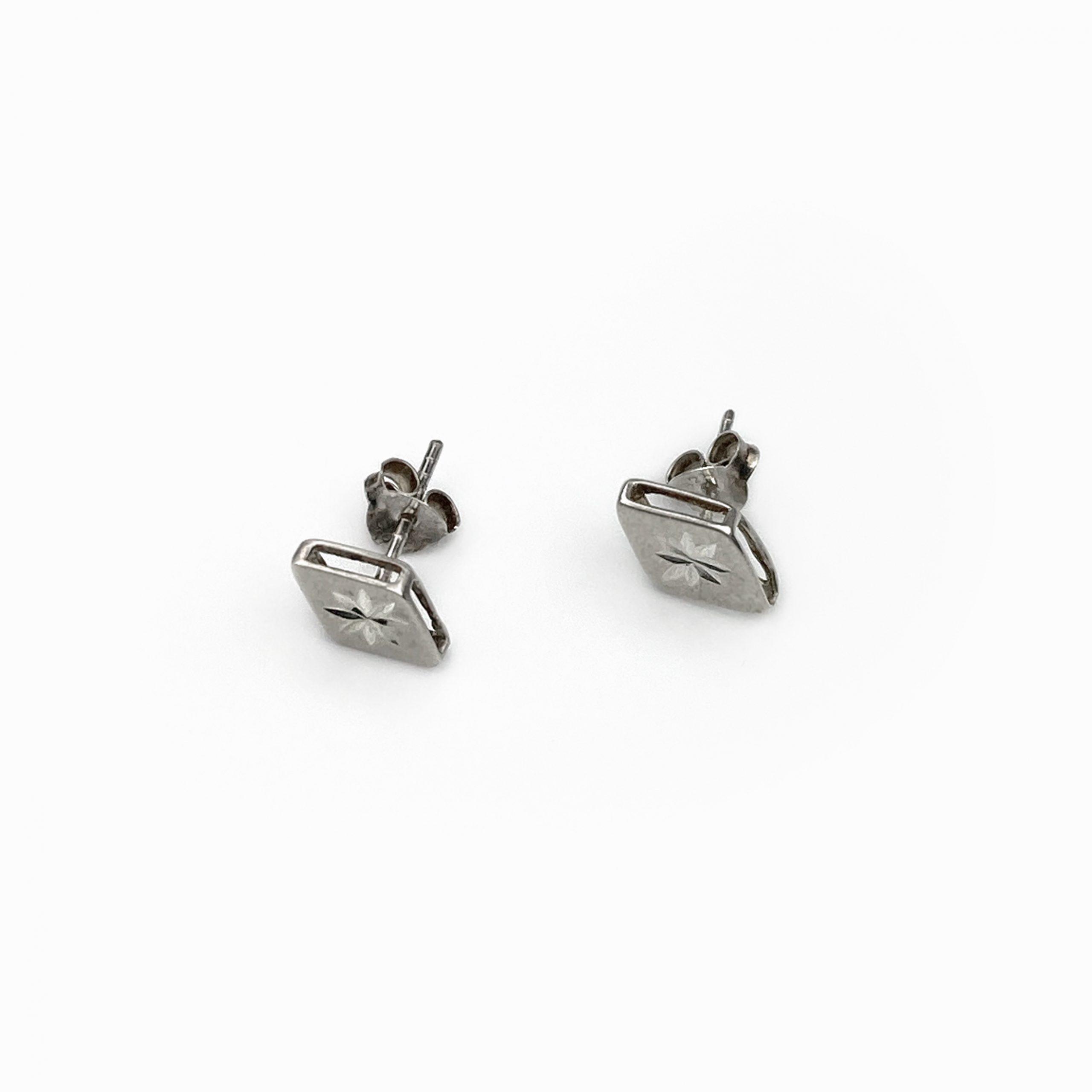 Brincos losango em prata (1)