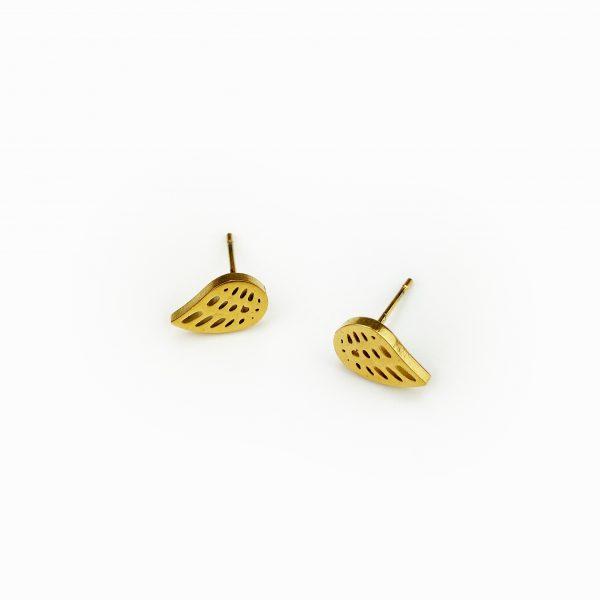 Conjunto em aço folha dourado (3)