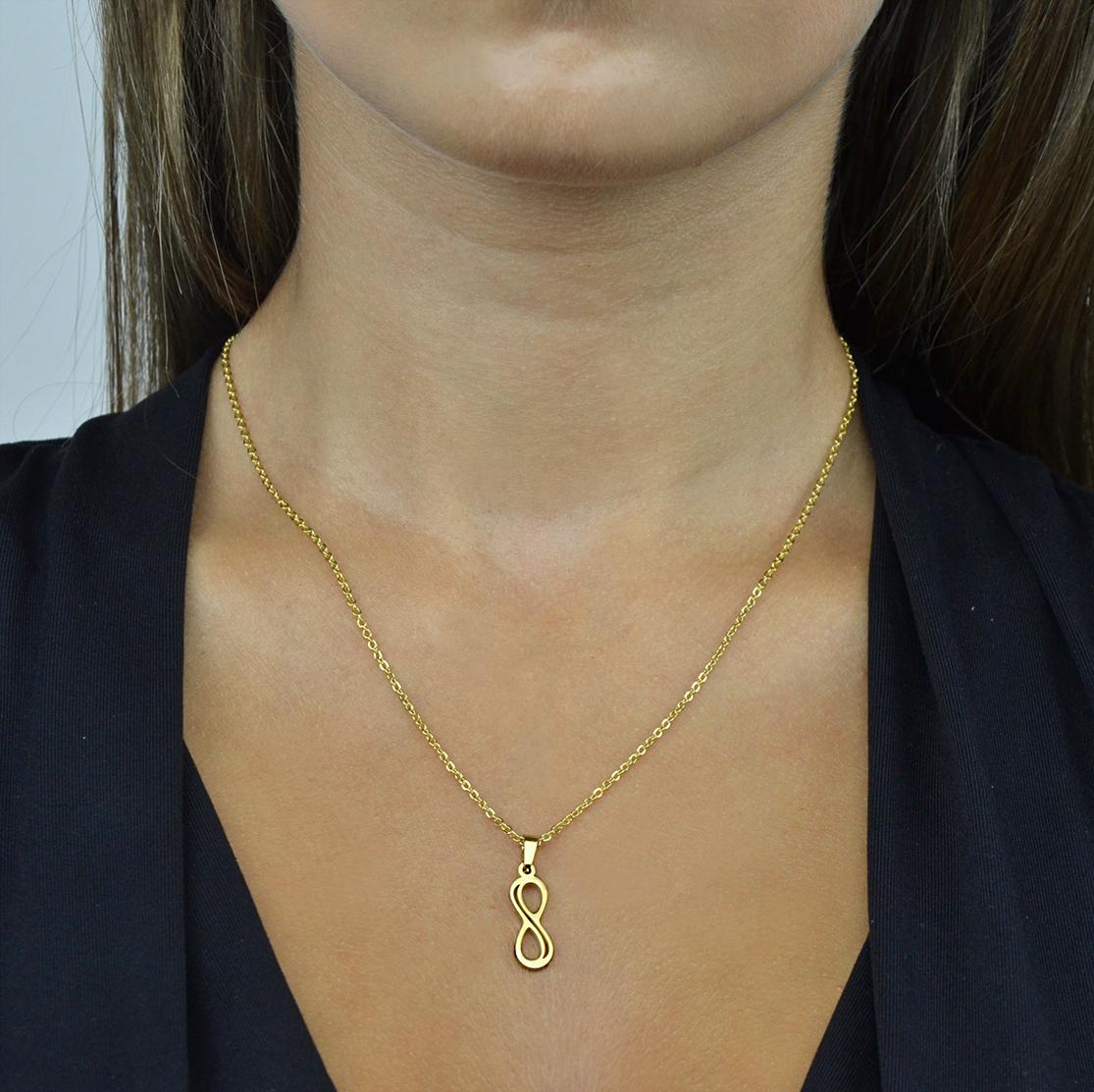 Conjunto em aço infinito dourado (1)