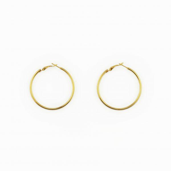 Argolas douradas em em aço fashion (1)