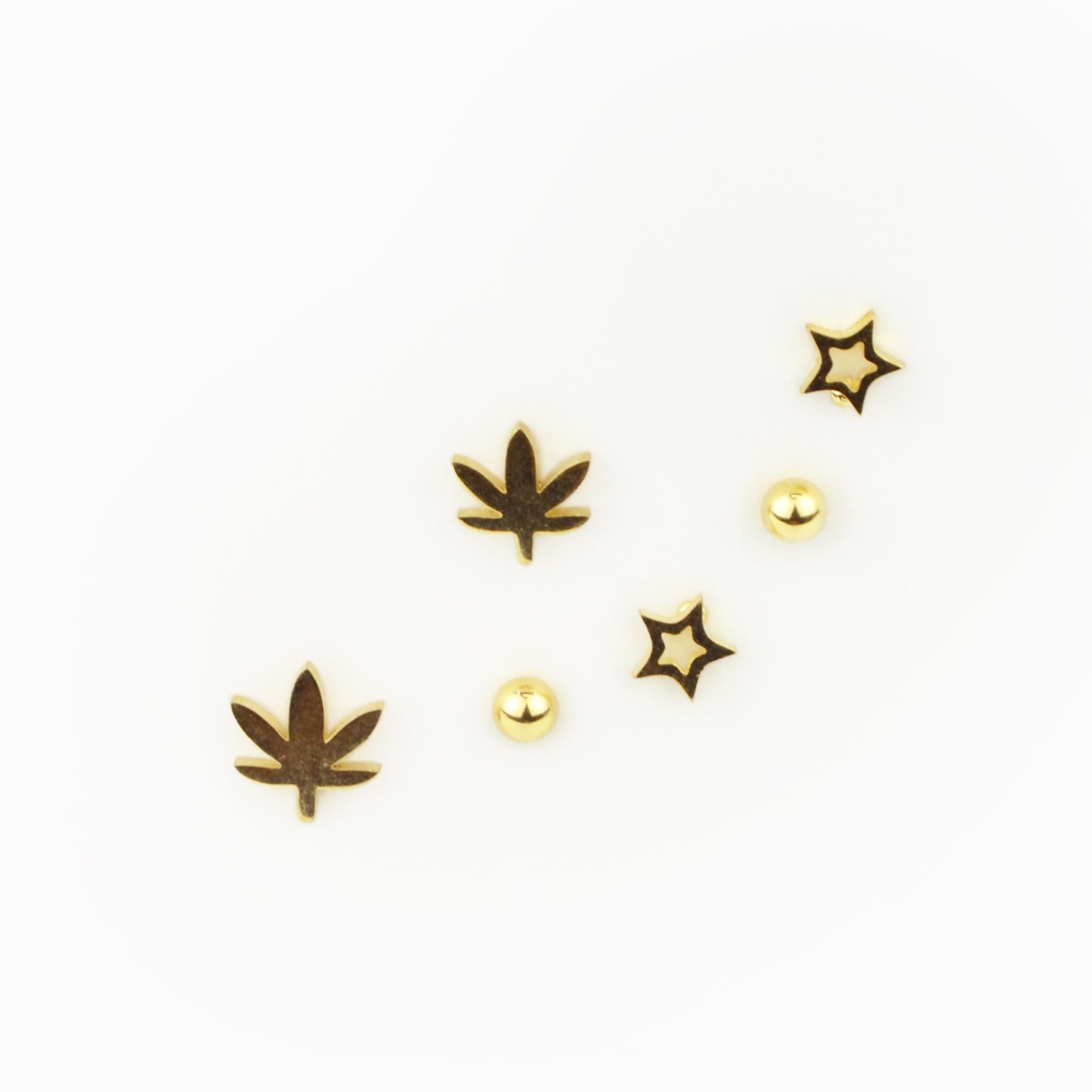 Brincos dourados Aço