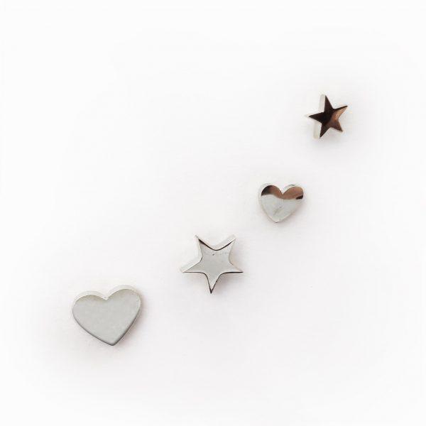 Brincos coração estrela aço (2)