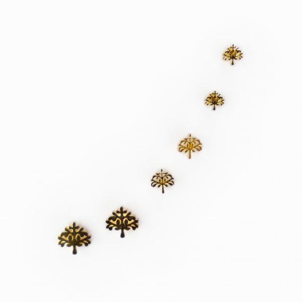 Brincos em aço árvores da vida (2)